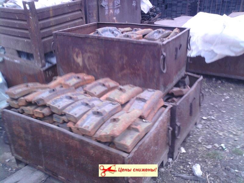 Колодка чугунная гребневая тип М для локомотивов ГОСТ 3... Тип М